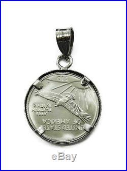 1/10 oz American Eagle Platinum Coin Necklace Charm Pendant