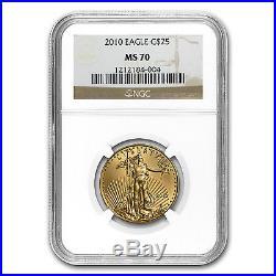 1/2 oz Gold American Eagle MS-70 NGC (Random Year) SKU #83494