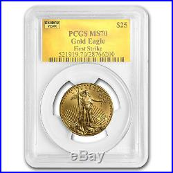 1/2 oz Gold American Eagle MS-70 PCGS (Random Year) SKU #83496
