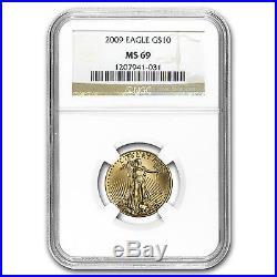 1/4 oz Gold American Eagle MS-69 NGC (Random Year) SKU #83502