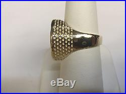 14K Gold Men's 20 MM COIN RING with a 22 K 1/10 OZ AMERICAN EAGLE COIN