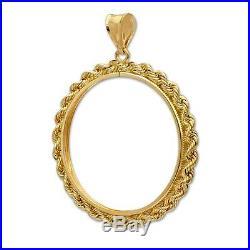 14kt Solid Gold For 1oz Gold Eagle Solid Rope Bezel 4.9 Grams $268.88