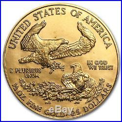 1986 1/2 oz Gold American Eagle BU (MCMLXXXVI) SKU #6459