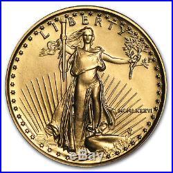 1986 1/4 oz Gold American Eagle BU (MCMLXXXVI) SKU #4705