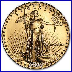 1986 1 oz Gold American Eagle BU (MCMLXXXVI) SKU #7668