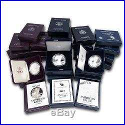 1986-2017 AMERICAN SILVER EAGLE GEM PROOF IN ORIGINAL U. S. MINT PACKAGING WithCOA