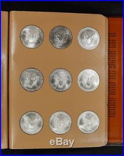 1986 2018 American Eagle Silver Dollar Complete Set Brilliant White Gem Coins