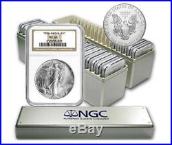 1986 2018 Complete 33 Coin American Silver Eagle Set Ngc Ms 69