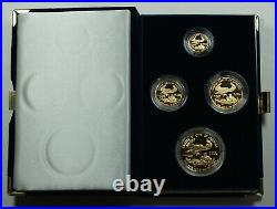 1988 American Eagle Gold Proof 4 Coin Set AGE in Box with COA Roman Numerals
