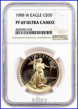 1988-W 1 oz. Gold American Eagle Proof $50 NGC PF69 UC SKU20333