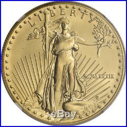1989 American Gold Eagle (1 oz) $50 NGC MS69