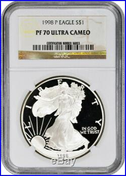 1998-P American Silver Eagle Proof NGC PF70 UCAM
