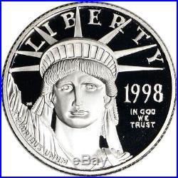 1998-W American Platinum Eagle Proof 1/4 oz $25 in OGP