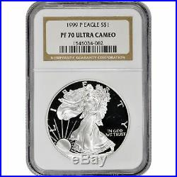 1999-P American Silver Eagle Proof NGC PF70 UCAM