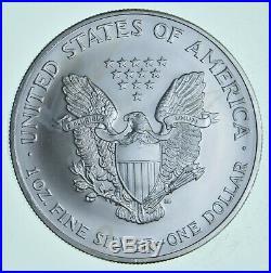 2001-20 Lot of 5 American Silver Eagle 1 Troy Oz. 999 Fine Silver 1/4 Roll