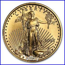 2002 1/10 oz Gold American Eagle BU SKU #4908