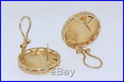2002 $5 American Eagle Liberty Gold Piece 1/10 oz Fine Gold 14K Earrings