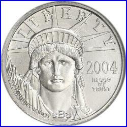 2004 American Platinum Eagle 1/4 oz $25 NGC MS69