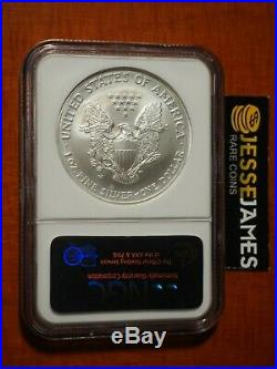 2008 W Burnished Silver Eagle Ngc Ms69 Reverse Of 2007 Double Error (label Too)