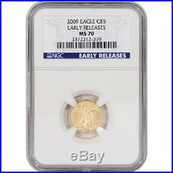 2009 American Gold Eagle (1/10 oz) $5 NGC MS70 Early Releases