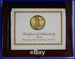 2009 Ultra High Relief American Gold Eagle AGE $20 Perfect As Issued With Book