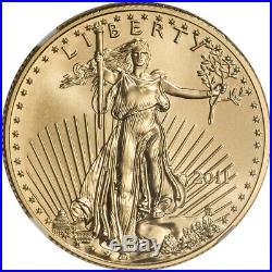 2011 American Gold Eagle 1/2 oz $25 NGC MS70 Early Releases