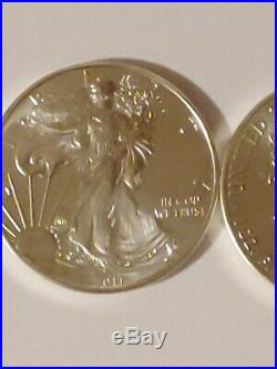 2011 American Silver Eagle (1 oz) $1 1Roll. 20 BU Coins in mint Tube