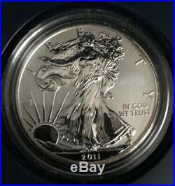 2011 S Silver American Eagle 25th Anniversary Silver Coin Set (Original Owner)