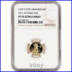 2011-W American Gold Eagle Proof 1/10 oz $5 NGC PF70 UCAM