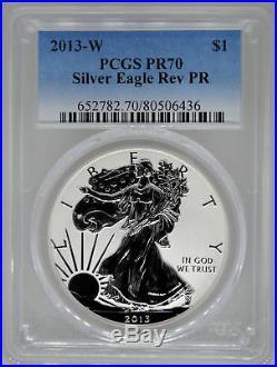2013-W PCGS PR70 Reverse Proof Silver Eagle