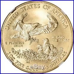 2014-W American Gold Eagle 1 oz $50 Burnished NGC MS70 Castle Signed