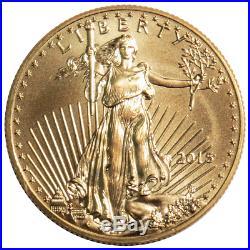 2015 $5 American Gold Eagle 1/10 oz Brilliant Uncirculated
