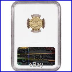 2015 American Gold Eagle (1/10 oz) $5 NGC MS70 First Releases Wide Reeds