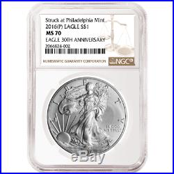 2016 (P) $1 American Silver Eagle NGC MS70 Brown Label