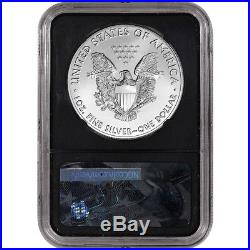 2017-(P) American Silver Eagle NGC MS70 First Day Issue 225th Label Black