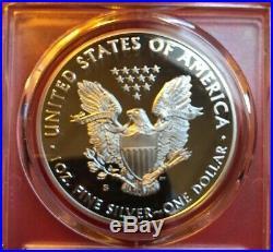 2017 S American Silver Eagle Congrats. Set Pcgs Pf70 Dcam Fdoi Red Bow Label
