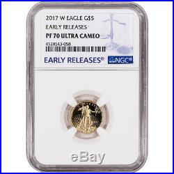 2017-W American Gold Eagle Proof (1/10 oz) $5 NGC PF70 UCAM Early Releases