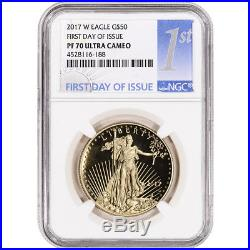 2017-W American Gold Eagle Proof (1 oz) $50 NGC PF70 First Day Issue 1st Label