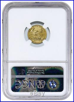 2018 1/10 oz Gold American Eagle $5 NGC MS70 SKU50798