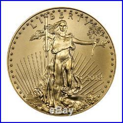 2018 1/2 oz Gold American Eagle $25 GEM BU Coin SKU50868