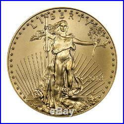 2018 1 oz Gold American Eagle $50 GEM BU WithMint Display Box SKU50873