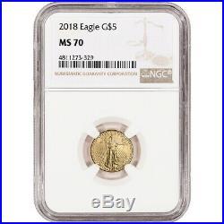 2018 American Gold Eagle 1/10 oz $5 NGC MS70