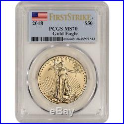 2018 American Gold Eagle 1 oz $50 PCGS MS70 First Strike