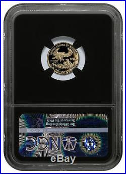 2018-W 1/10 oz. Gold American Eagle Proof $5 NGC PF70 UC FR Black/Foil SKU53084