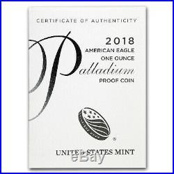 2018-W 1 oz Proof Palladium American Eagle (withBox & CoA) SKU#152858