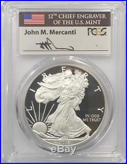 2018 W Proof Silver Eagle Pcgs Pr70 Dcam Mercanti First Day Of Issue Fdi Pop 800