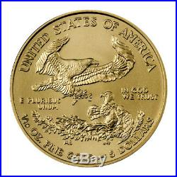 2019 1/10 oz Gold American Eagle $5 GEM BU PRESALE SKU55913