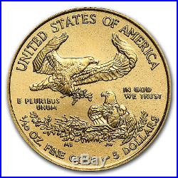 2019 1/10 oz Gold American Eagle BU (withU. S. Mint Box) SKU#185239