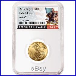 2019 $10 American Gold Eagle 1/4 oz. NGC MS69 Black ER Label
