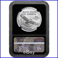 2019 $100 American Platinum Eagle NGC MS70 Blue ER Label Retro Core